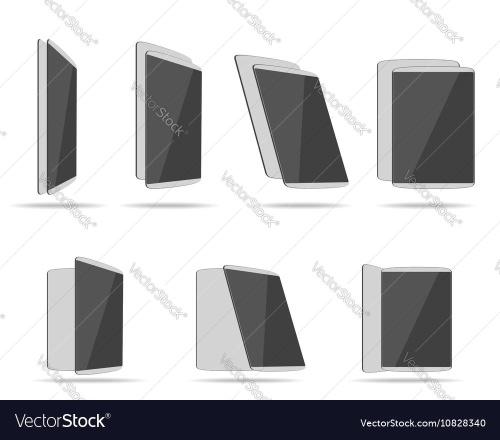Set tablet computers vector image