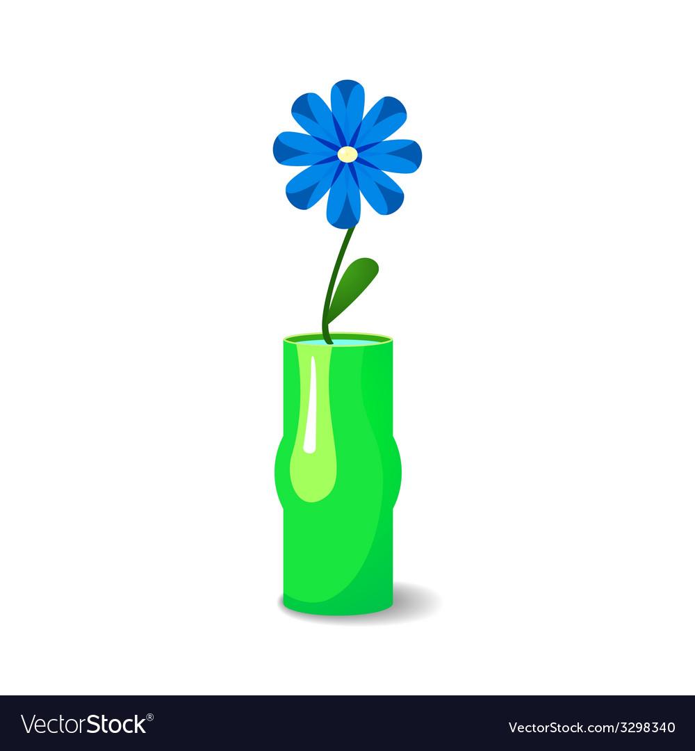 Single flower in vase royalty free vector image single flower in vase vector image reviewsmspy