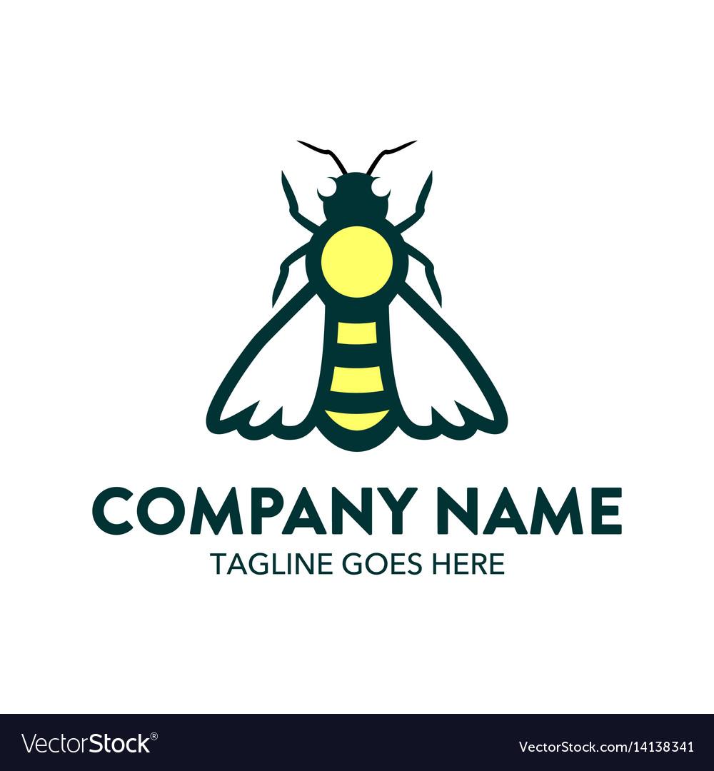 Bee logo-19 vector image