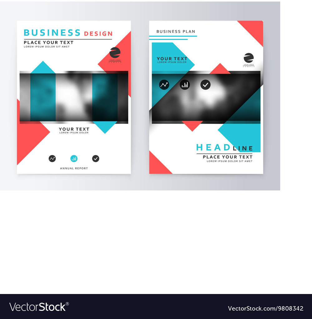 Cover design blue and red Template brochure vector image