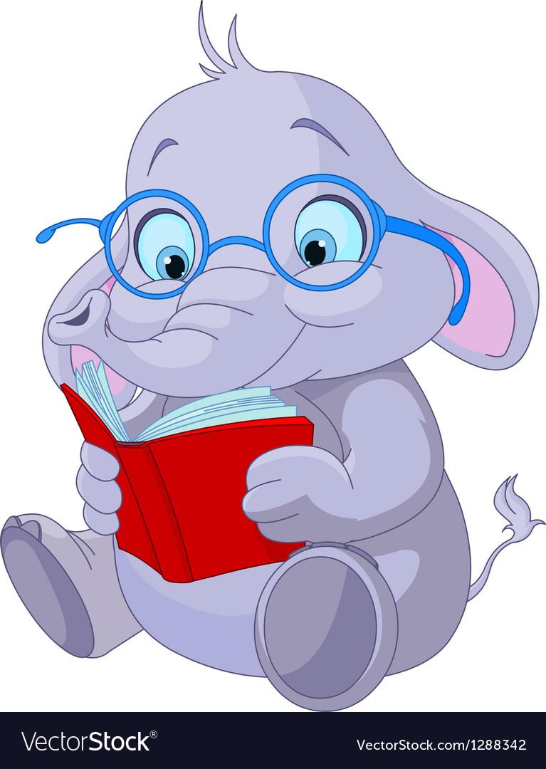 Cute Elephant Education vector image