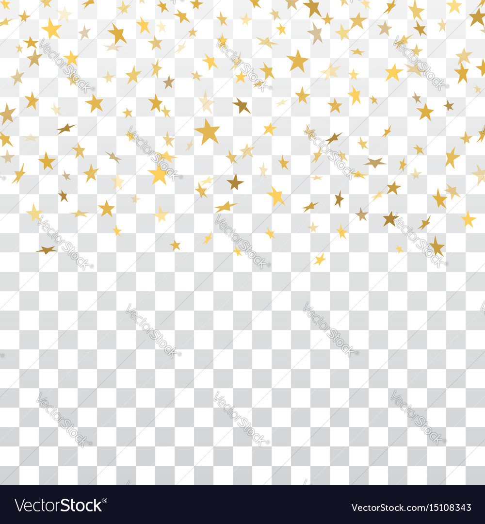 Confetti background vector golden confetti background - Gold Star Confetti Background Vector Image
