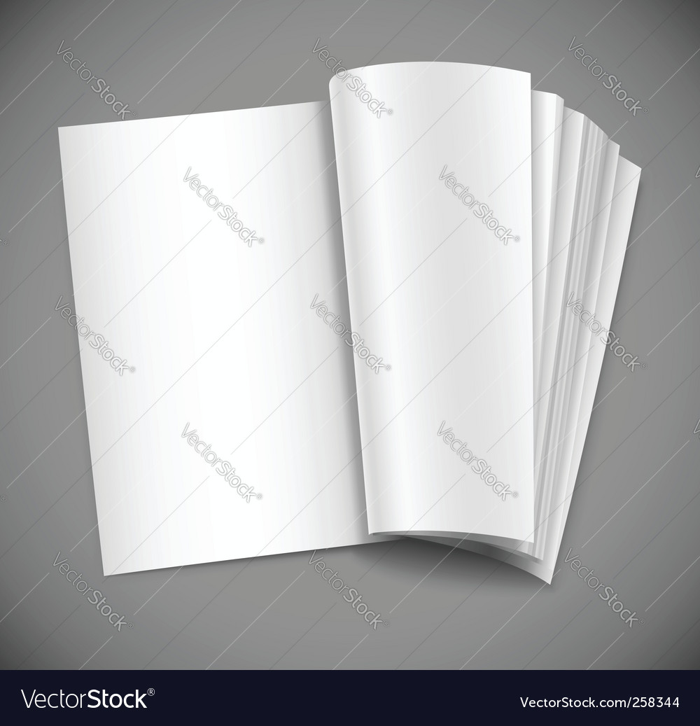 Magazine page vector image