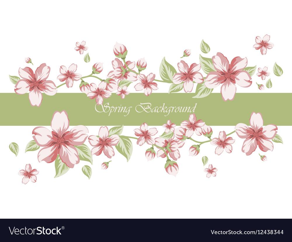 Spring time border card invitation royalty free vector image spring time border card invitation vector image stopboris Image collections