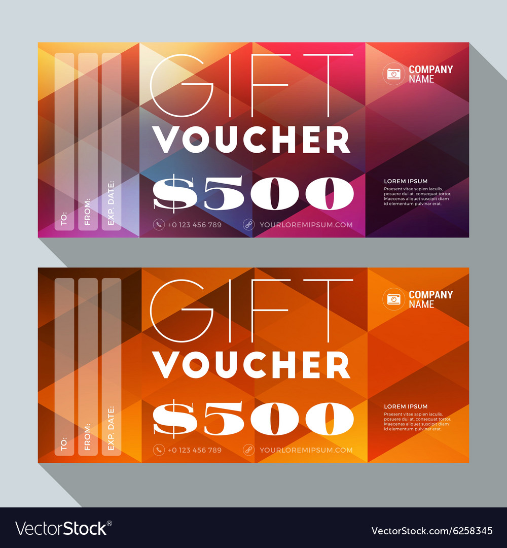 Design of discount card - Gift Voucher Design Print Template Discount Card Vector Image