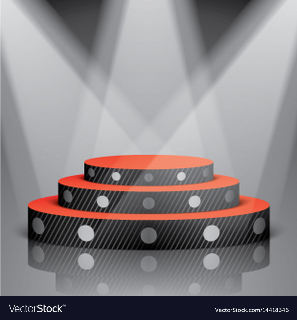 Black scene with white dots and lighting vector image