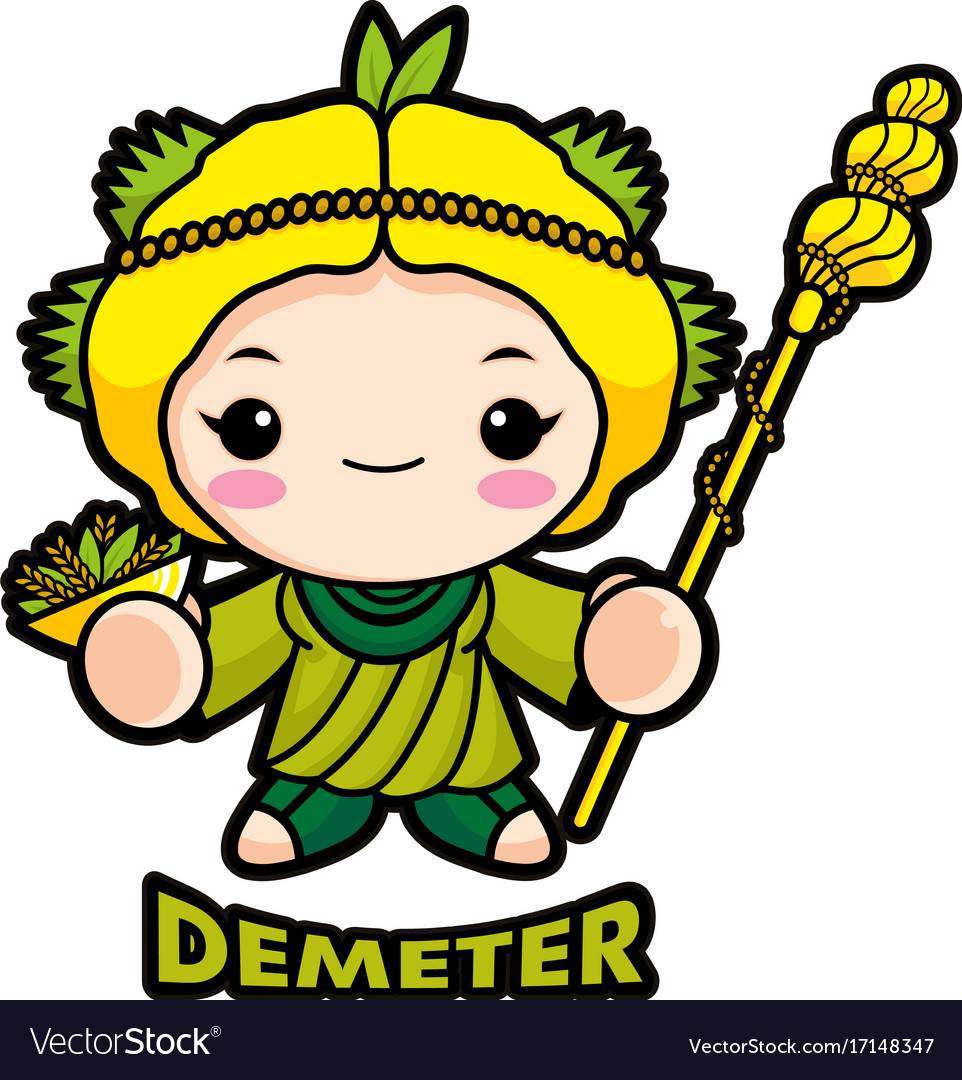Agricultural goddess demeter character olympus vector image buycottarizona Image collections