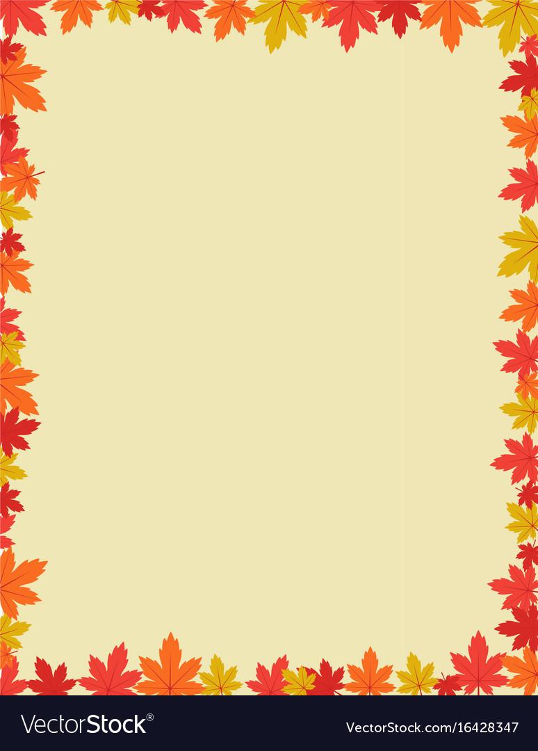 Autumn border design vector image