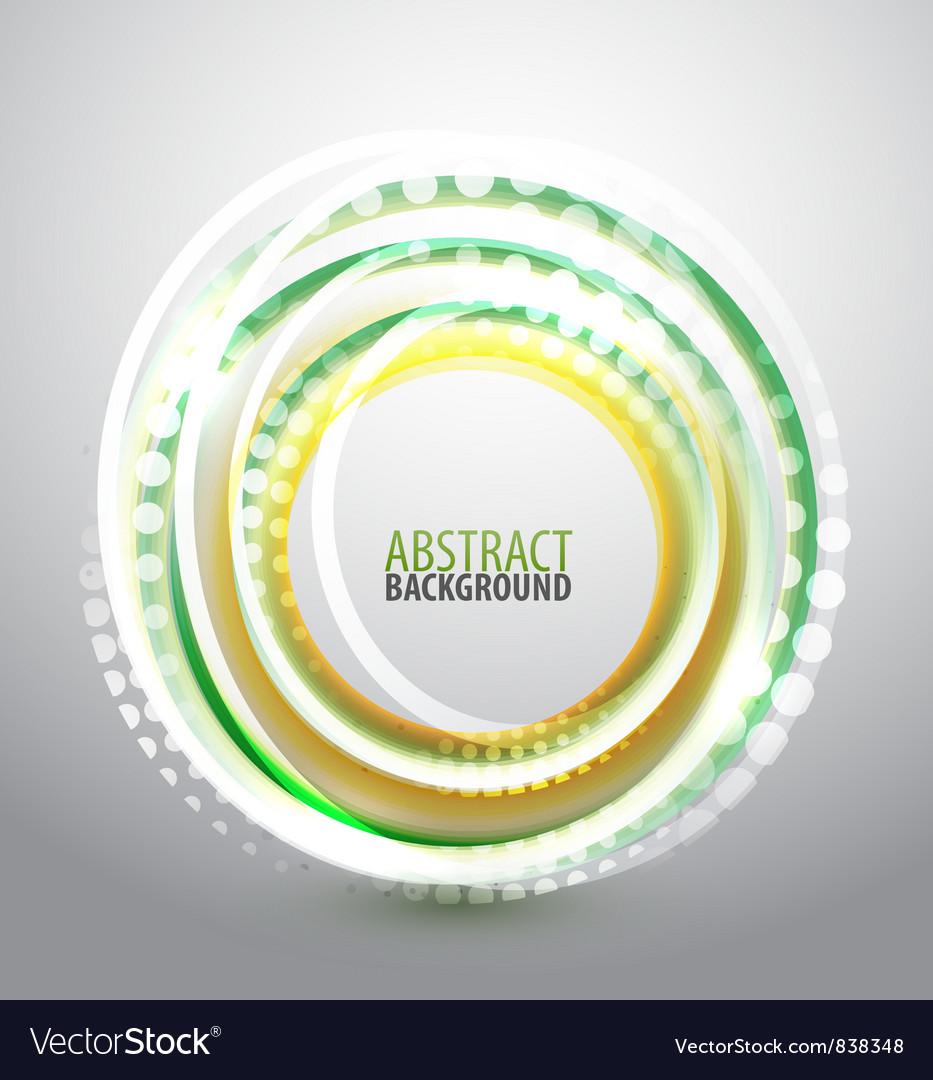 Shiny circle background vector image