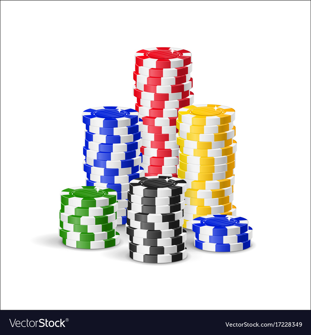 Chips piles cartoon style isolated vector image
