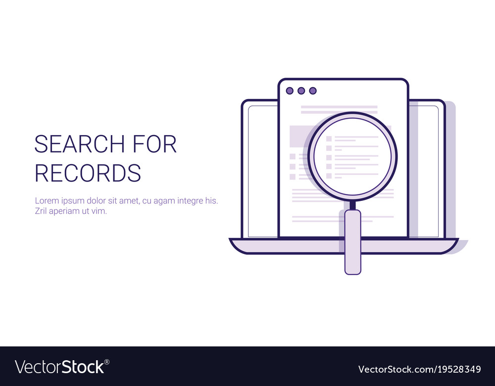 Search For Results Concept Data Analysis Template Vector Image