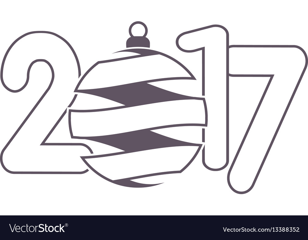Celebration logo with christmas ball on colorful vector image