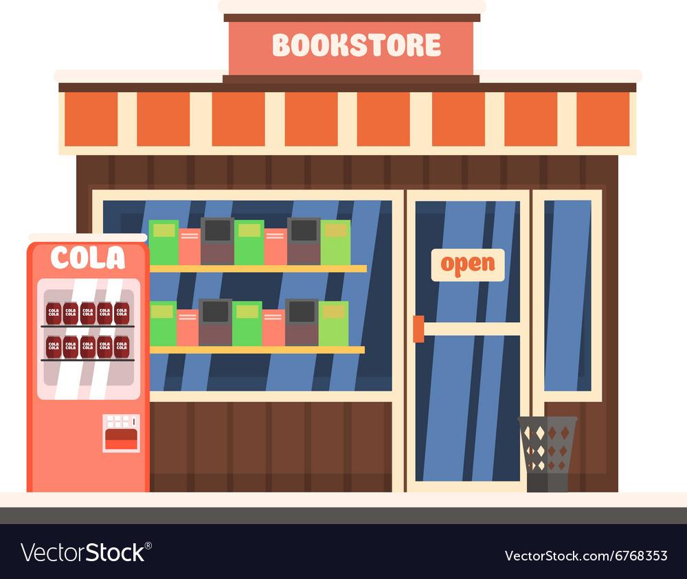 Bookshop Front vector image