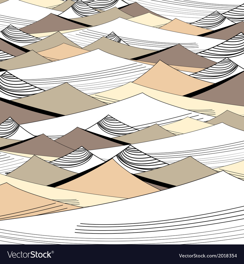 Background of the graphic dunes vector image