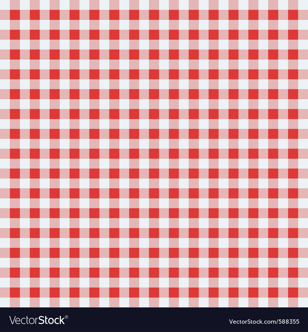 Classic tablecloth vector image