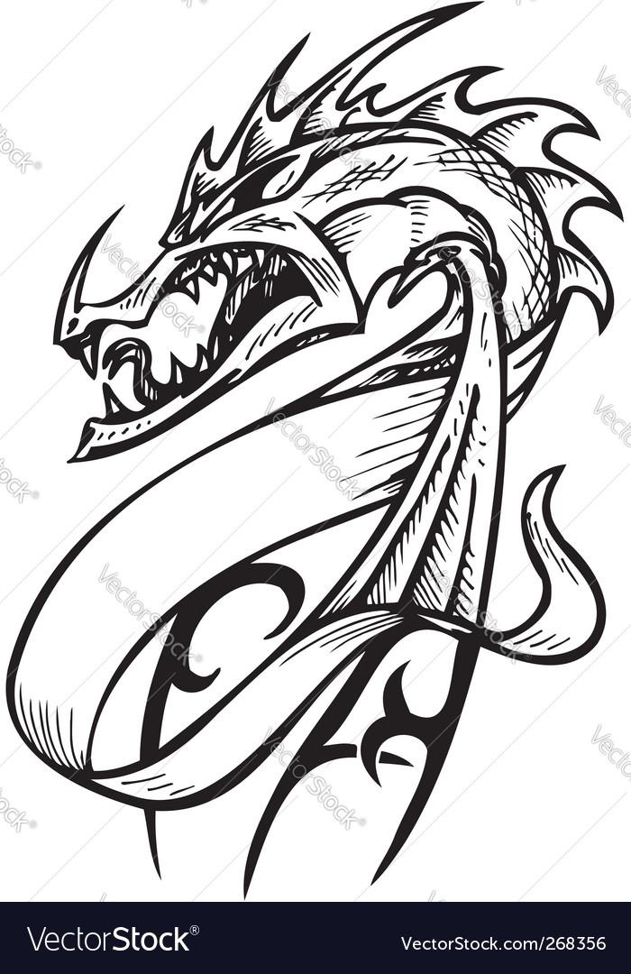 Dragon template Royalty Free Vector Image - VectorStock