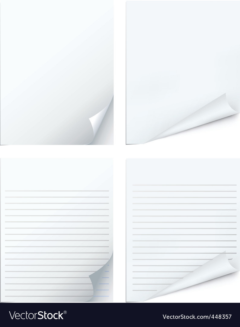 Blank pages vector image