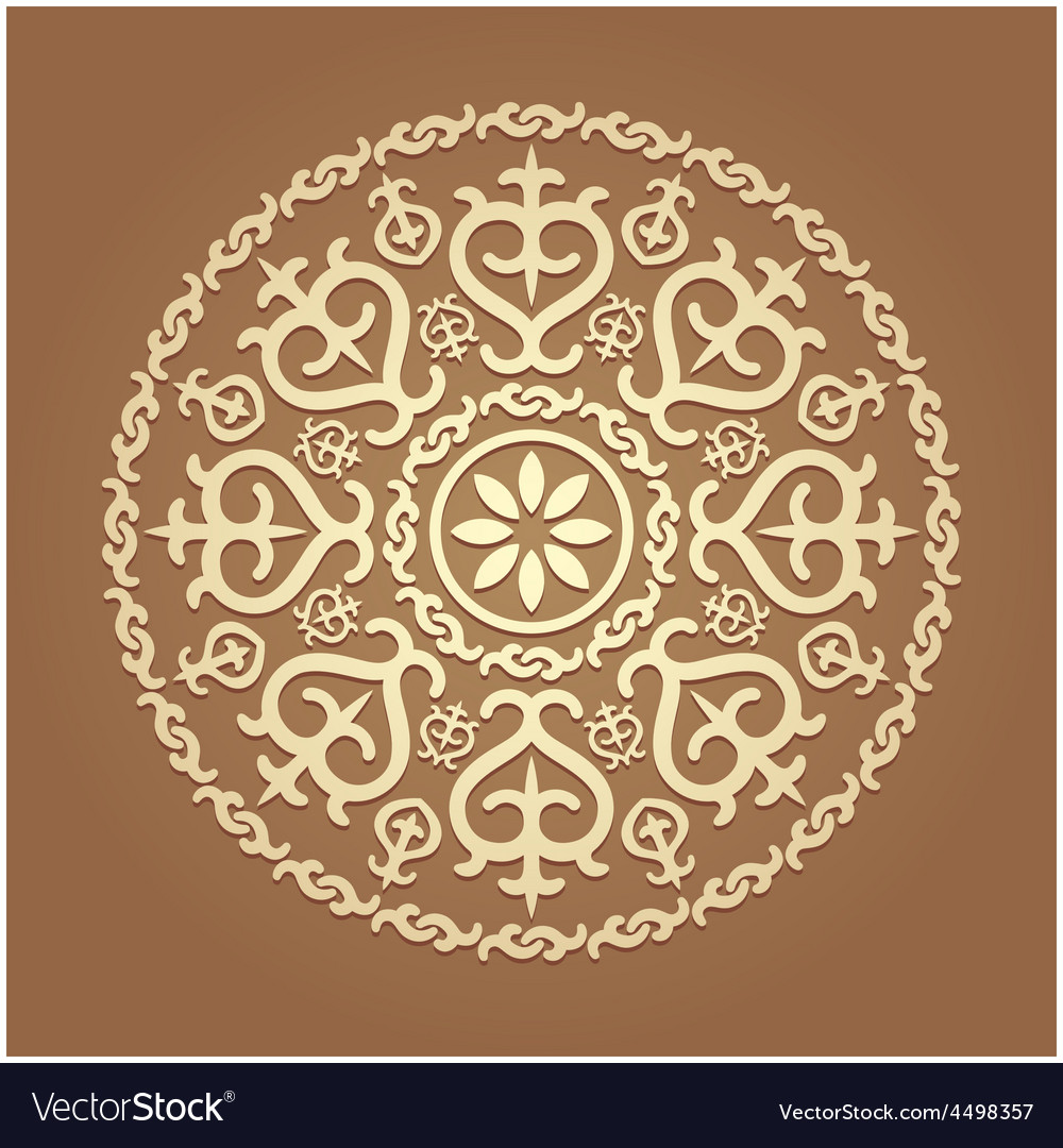 Islamic floral pattern vector image
