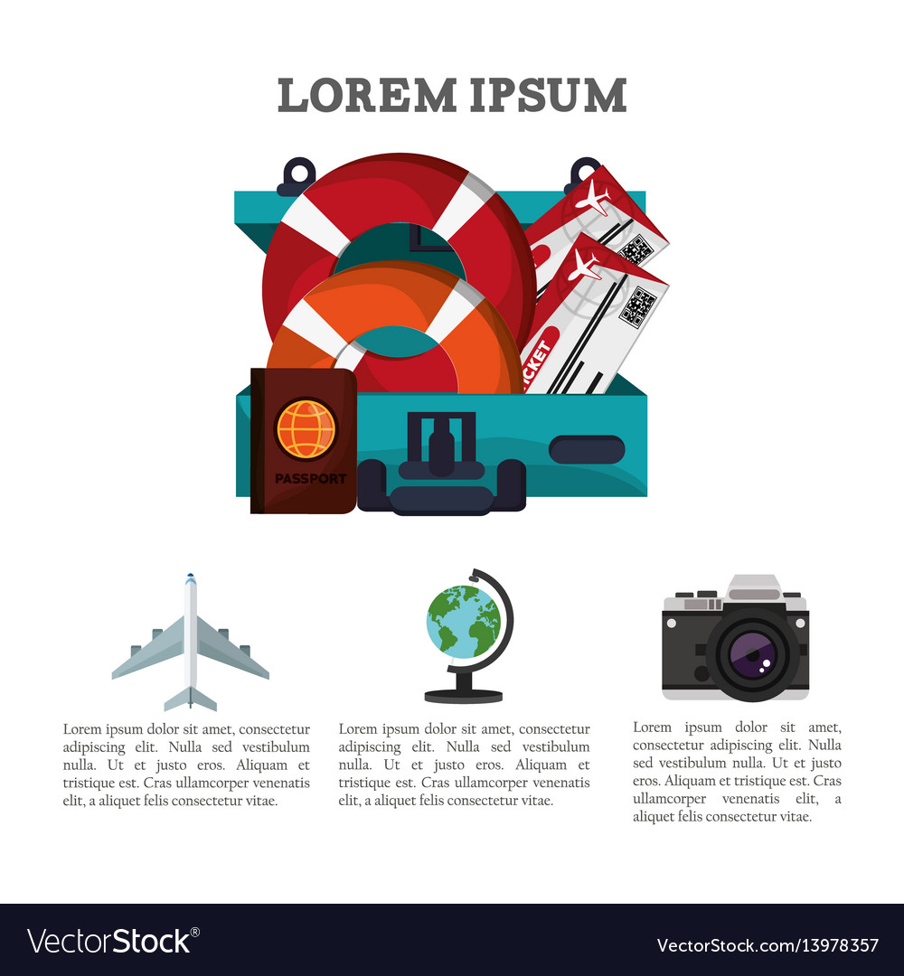 Travel brochure promotion vacation information vector image