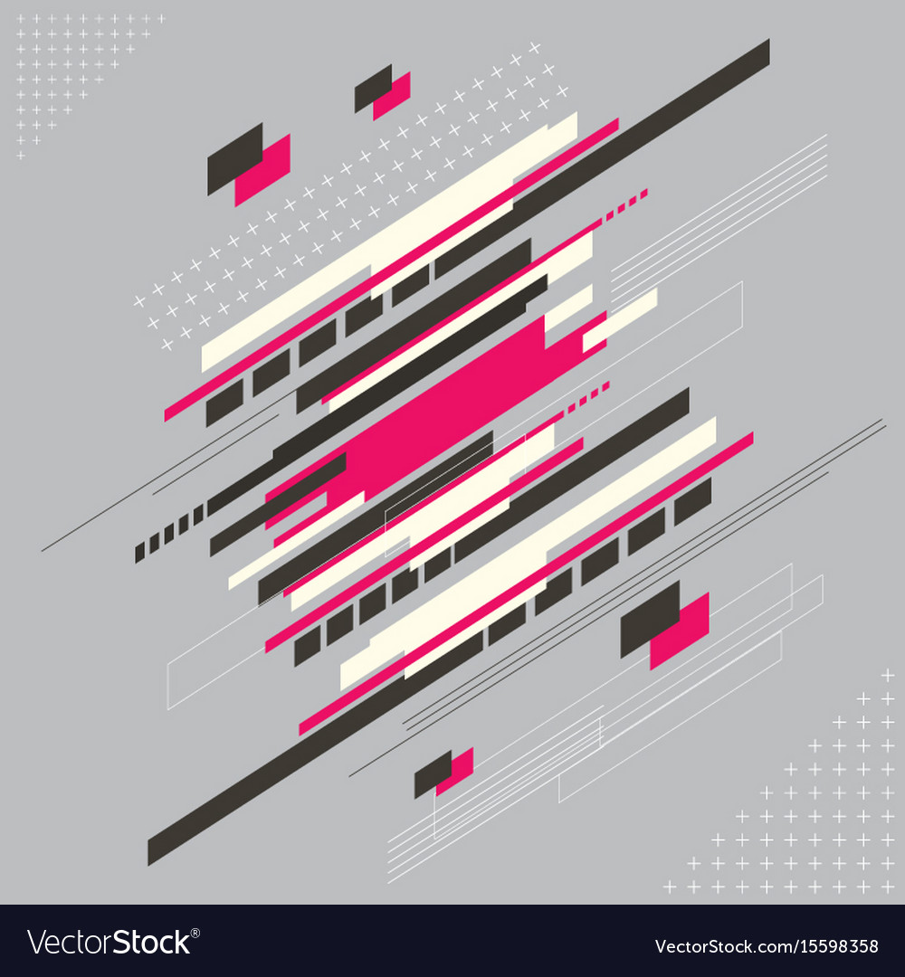 Abstract technology modern geometrical shape with vector image