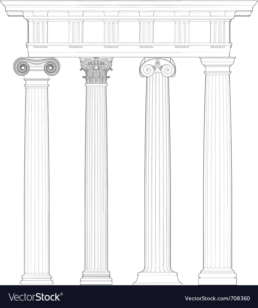 Four classical orders Vector Image