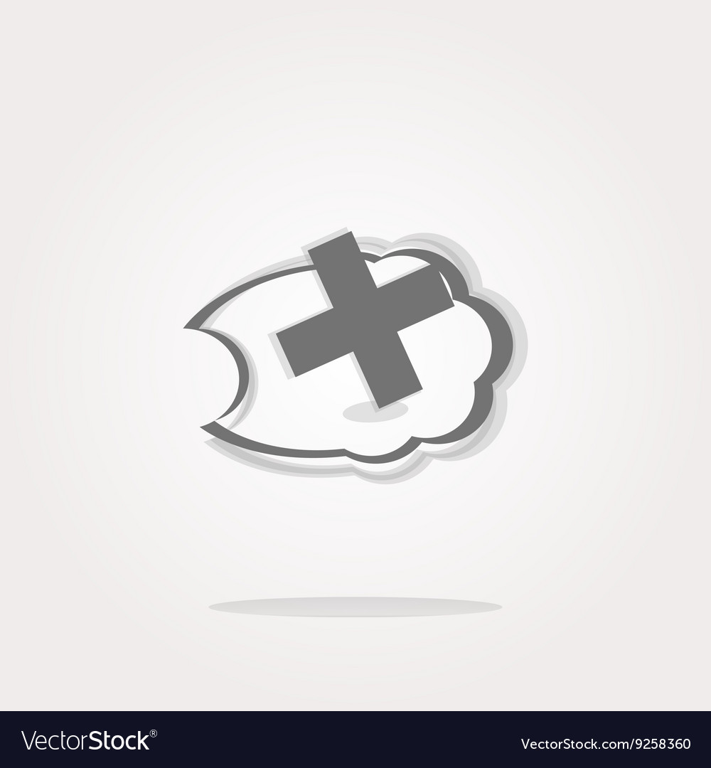 Icon on the clouds with plus sign vector image