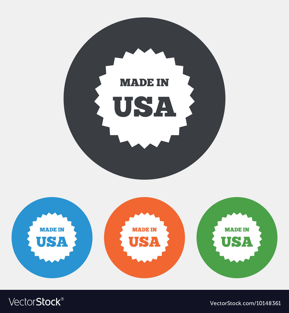 Made in the usa icon export production symbol vector image made in the usa icon export production symbol vector image buycottarizona