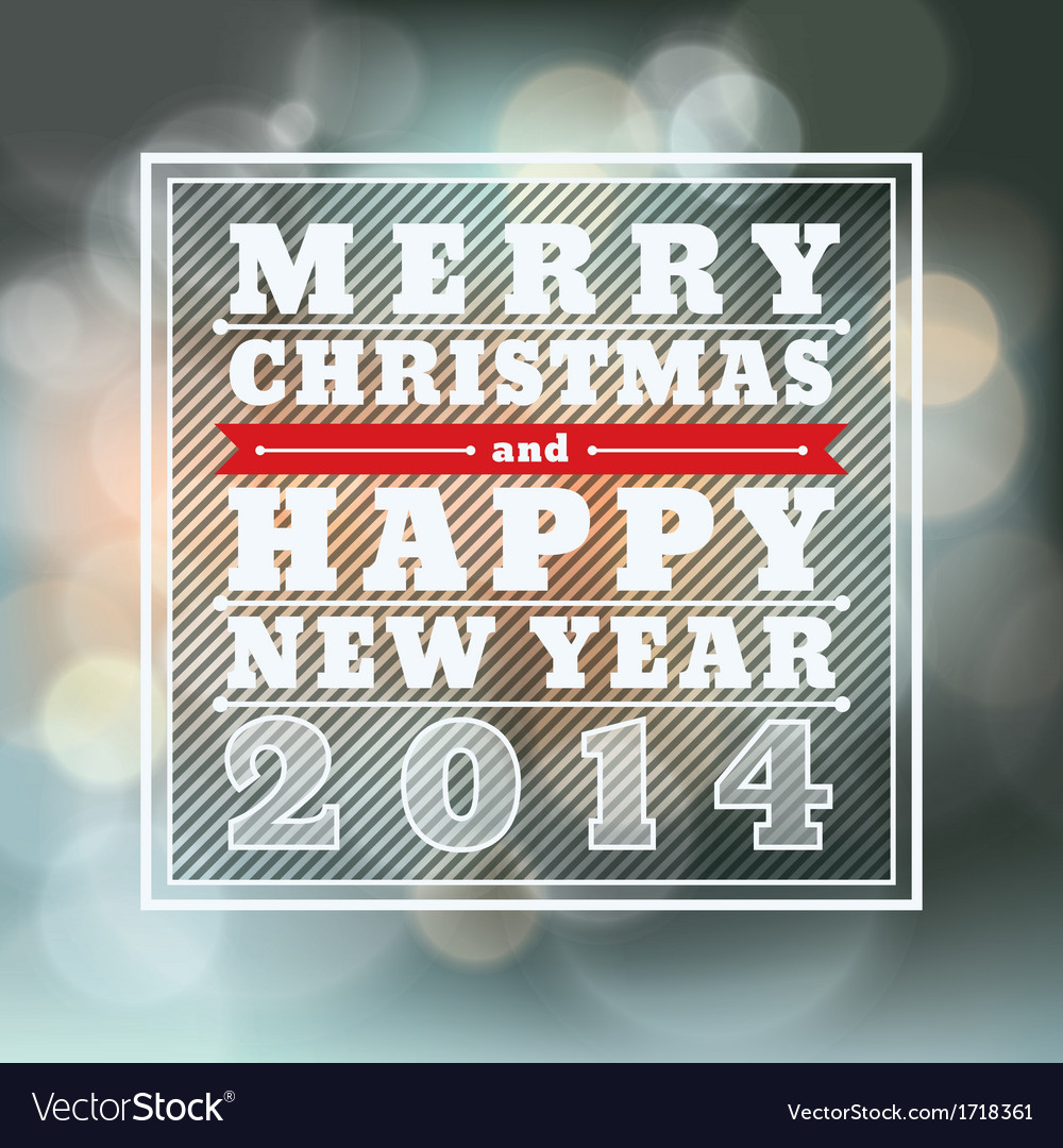 Merry Christmas and Happy New Year Background for vector image