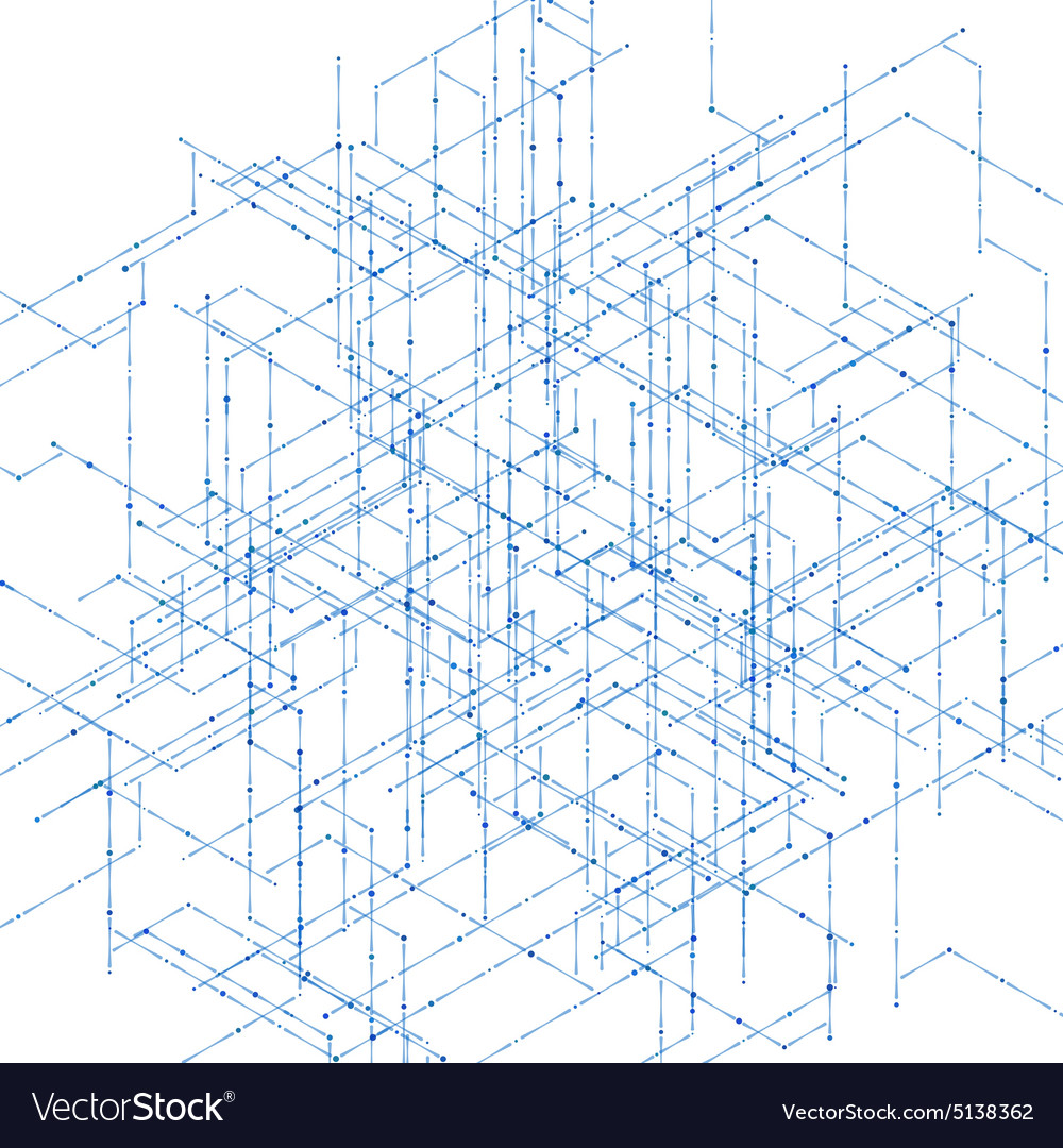 Abstract isometric computer generated 3d blueprint abstract isometric computer generated 3d blueprint vector image malvernweather Choice Image