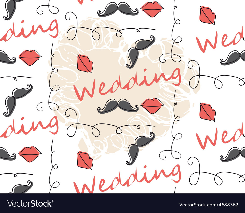 Seamless Pattern Background for wedding vector image