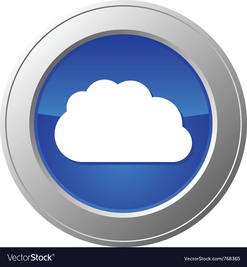 Cloud computing button vector image