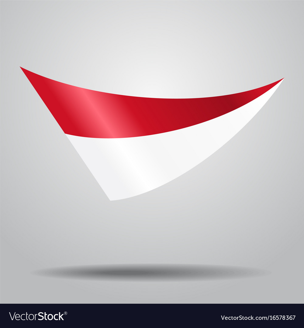 Indonesian flag background vector image