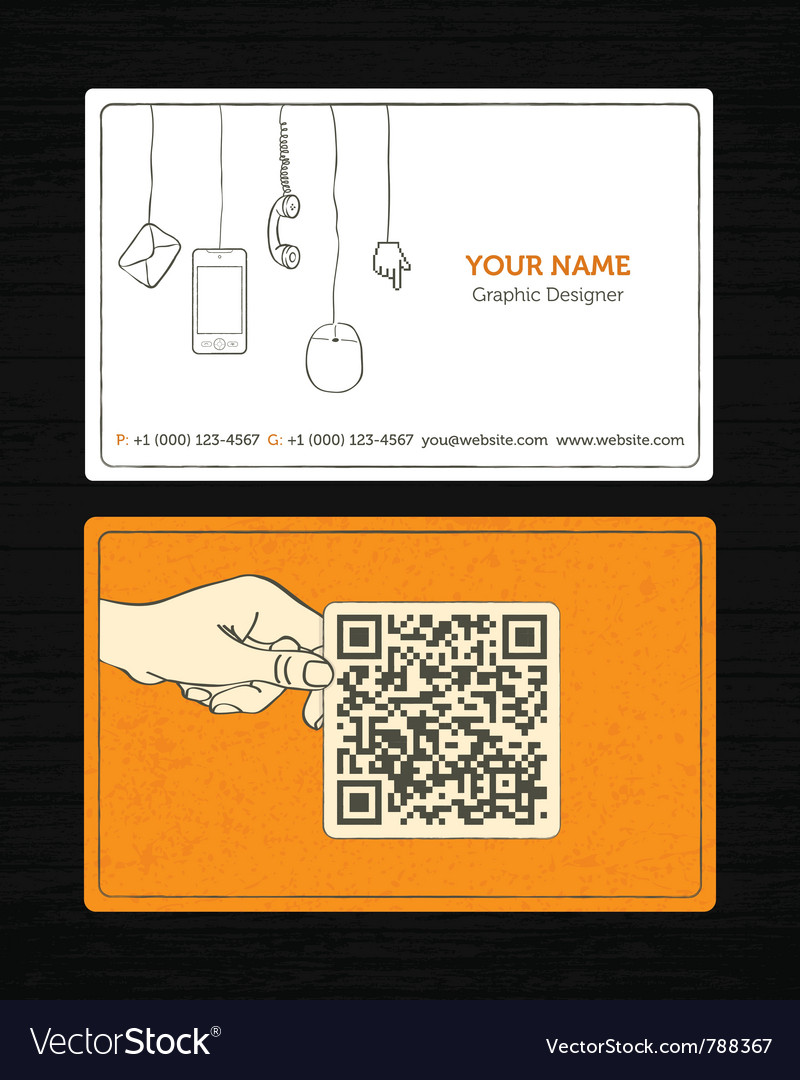 Sketchy business card vector image