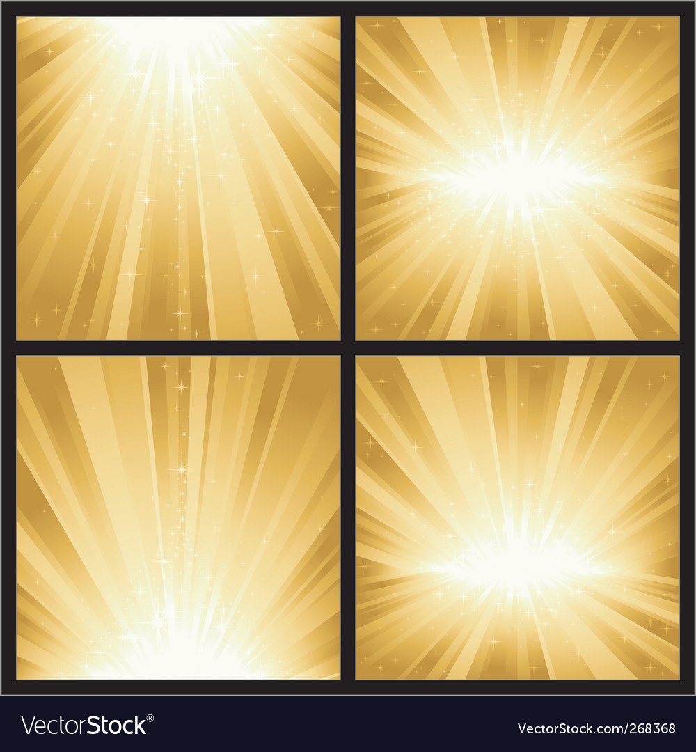 Festive explosion of light and vector image