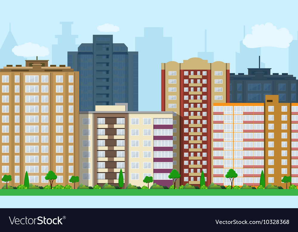 Modern City View vector image