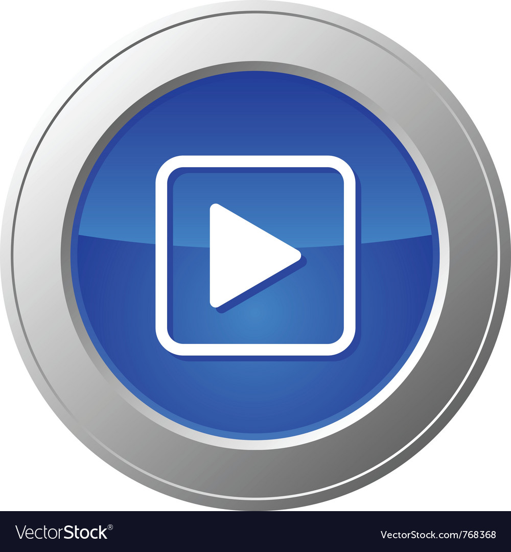 Video button vector image