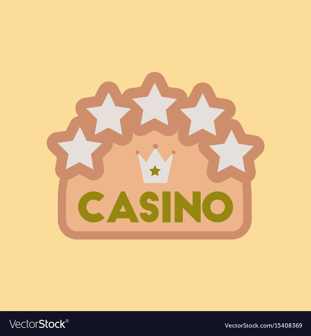Flat icon stylish background poker casino sign vector image
