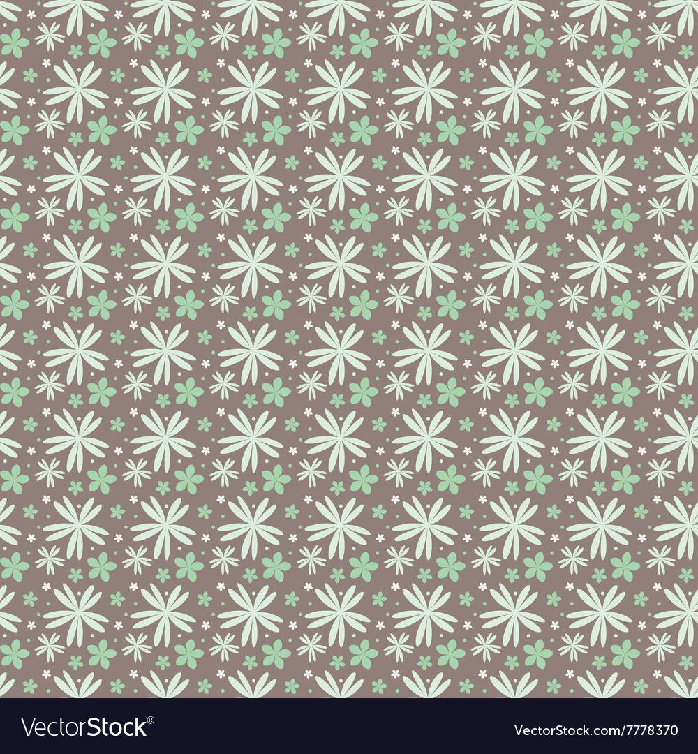 Floral pattern on a dark background in vector image
