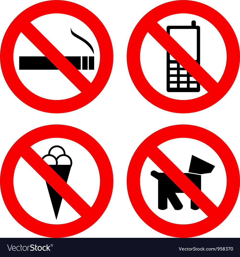 Not allowed signs vector image