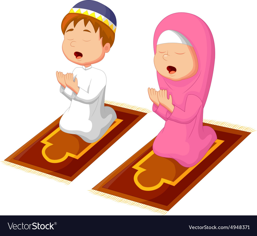 muslim kid praying royalty free vector image vectorstock child praying lds clipart child praying clip art black and white