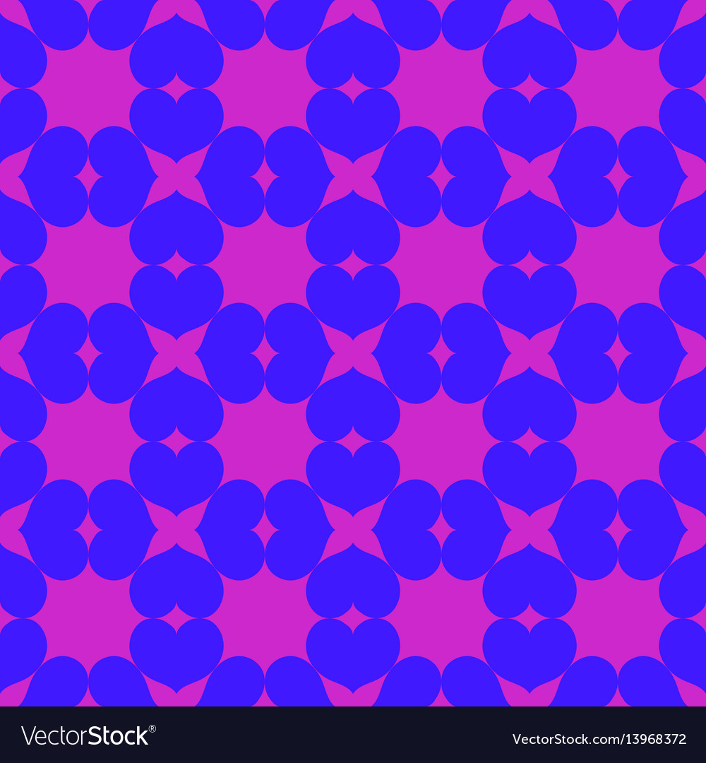 Heart chaotic seamless pattern 203 vector image
