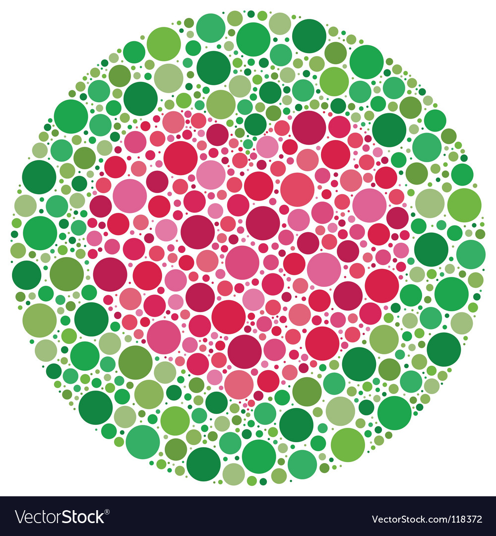 My love is color blind Royalty Free Vector Image