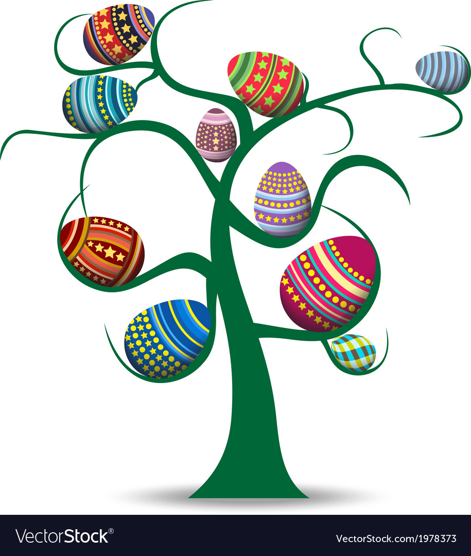easter eggs and happy easter royalty free vector image rh vectorstock com easter vector art easter vector backgrounds