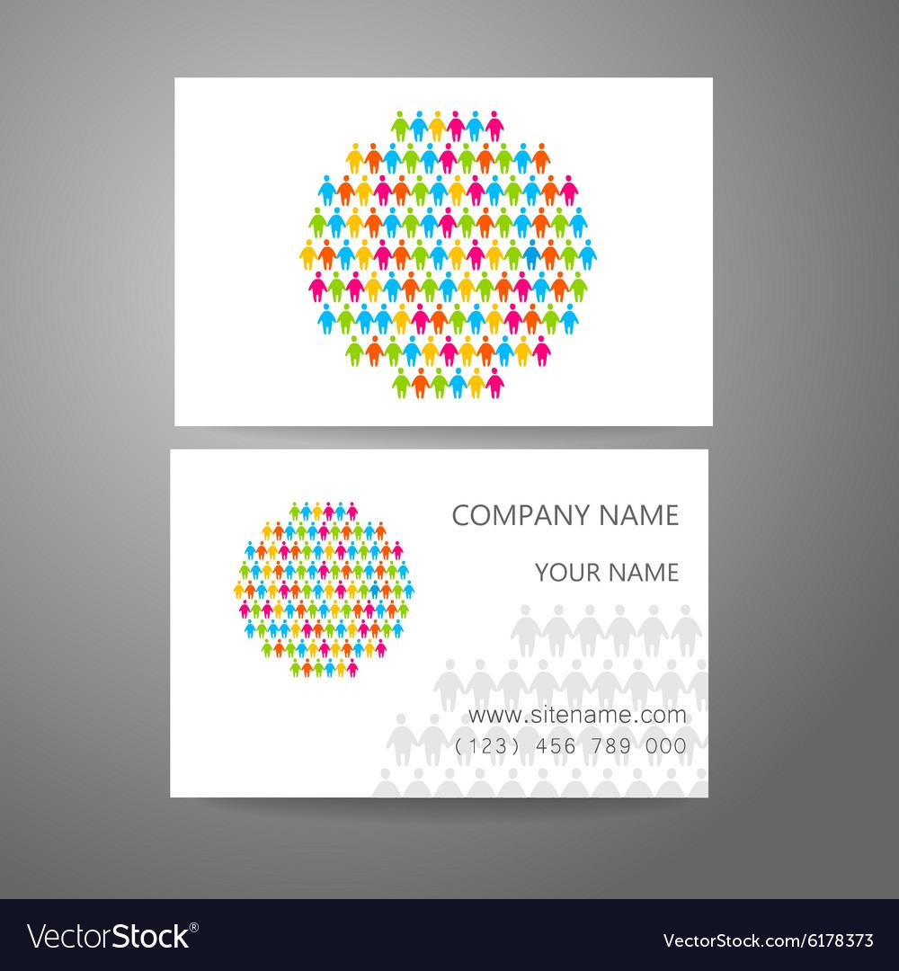 Team company logo business card template vector image colourmoves