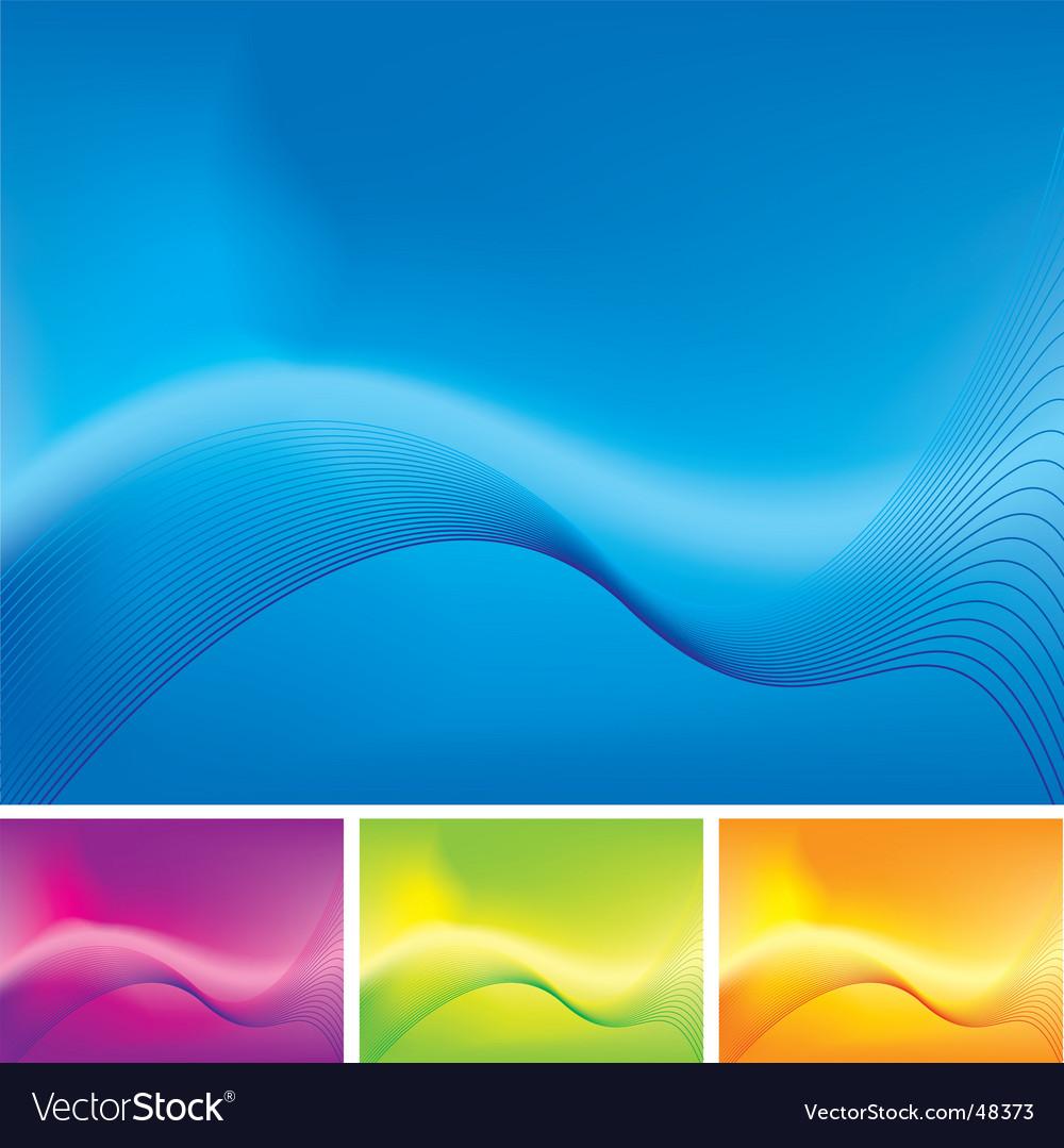 Wave stroke variation vector image