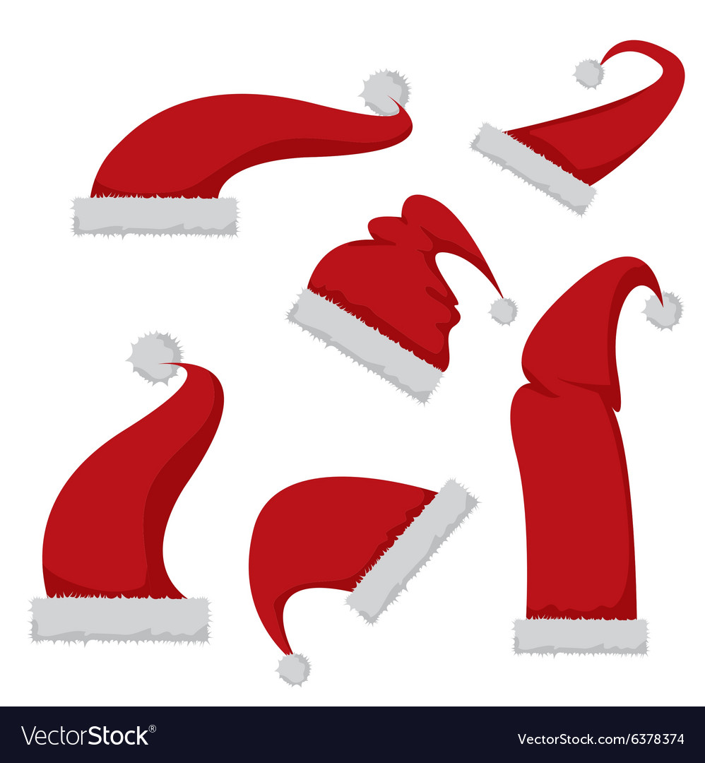 Red santa hat icon isolated on white royalty free vector red santa hat icon isolated on white vector image biocorpaavc