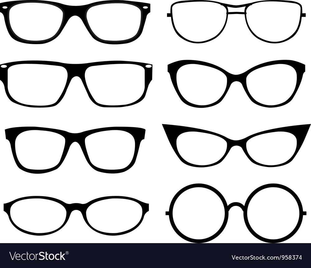 Set of eyeglasses vector image