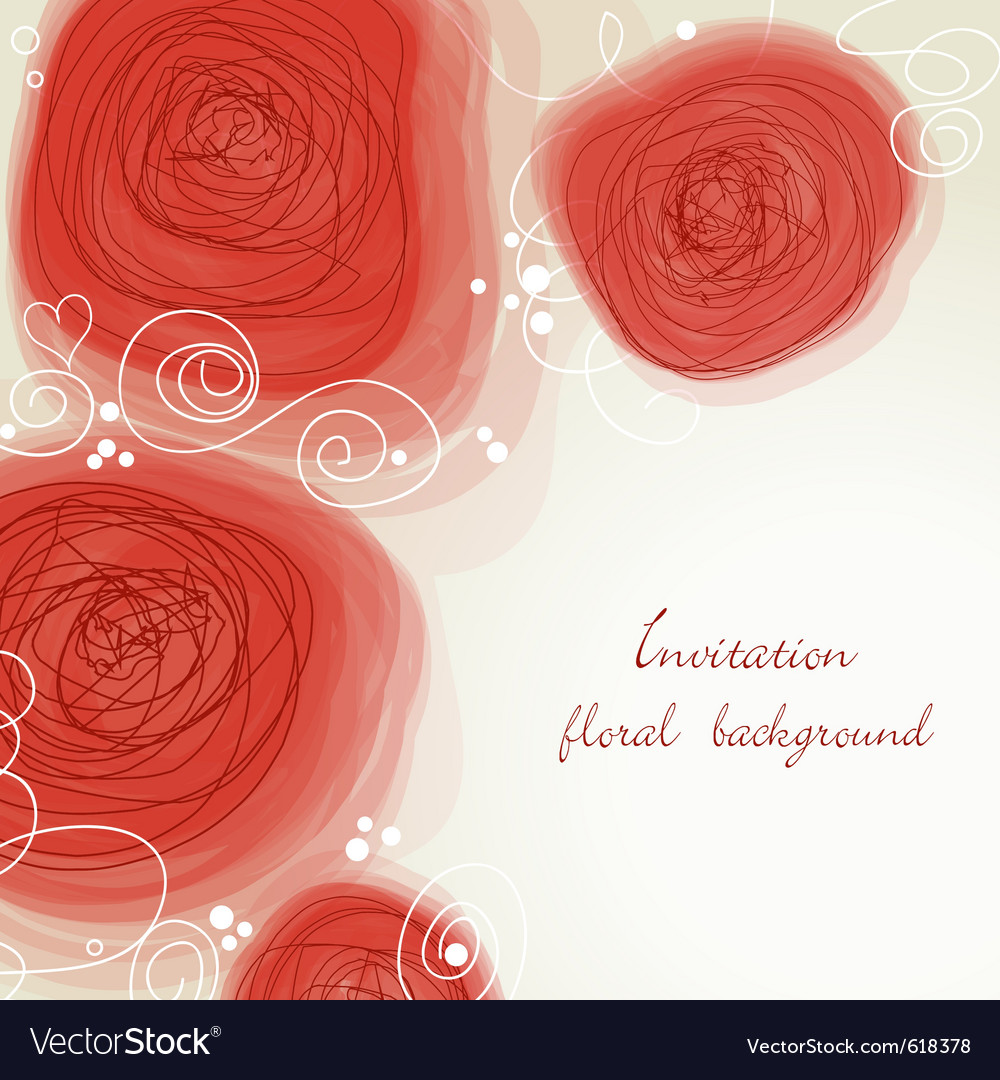 Romantic flowers background vector image