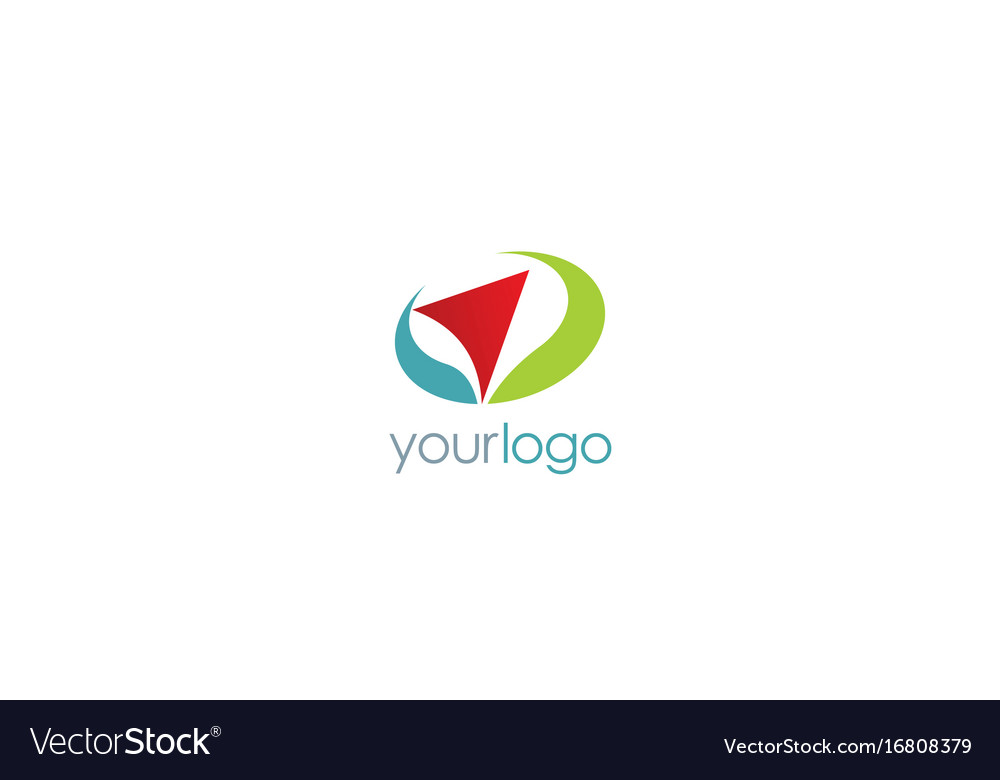 Arrow navigation color logo vector image