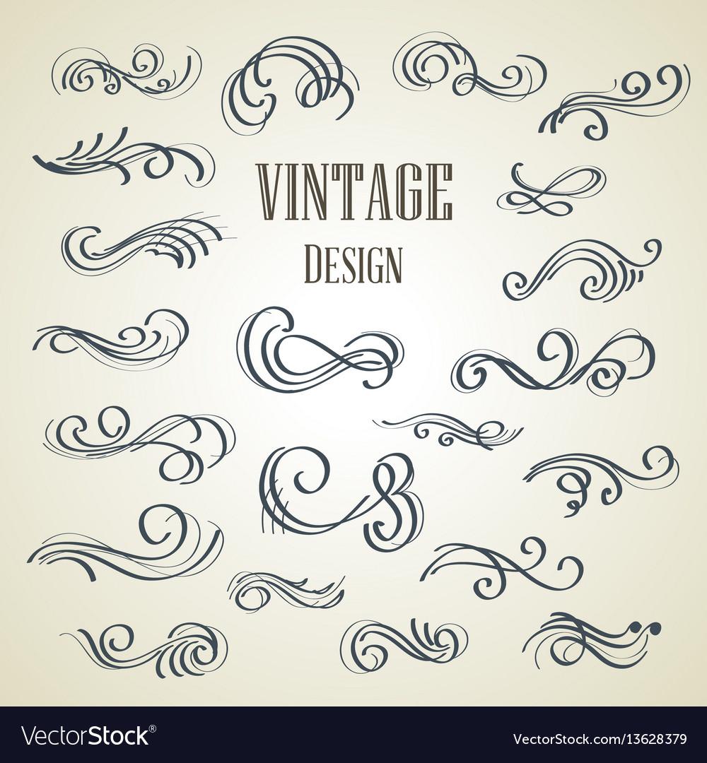 Set of ornamental vintage decorations vector image